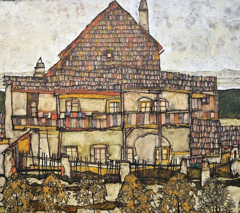 Egon Schiele - House with Shingle Roof (Old House), 1915